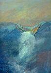 "Waterfall by Karen Burnette Garner Acrylic ~ 16"" x 12"""