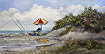 "High Tide on the Point by Karen Burnette Garner Acrylic ~ 12"" x 24"""