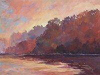 "Chattahoochee by Karen Burnette Garner Acrylic ~ 30"" x 40"""
