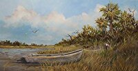 "High and Dry by Karen Burnette Garner Acrylic ~ 12"" x 24"""