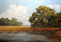 "Beaufort Afternoon by Karen Burnette Garner Acrylic ~ 24"" x 36"""