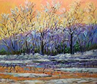 "Fire and Ice by Karen Burnette Garner Acrylic ~ 20"" x 24"""