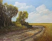 "Edisto - Marsh Edge by Karen Burnette Garner Acrylic ~ 12"" x 16"""