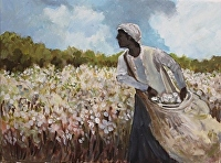 "High Cotton by Karen Burnette Garner Acrylic ~ 12"" x 16"""