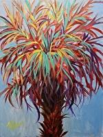 "Palmetto Jazz by Karen Burnette Garner Acrylic ~ 16"" x 12"""