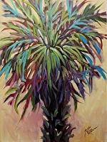 "Palmetto Cool Blue by Karen Burnette Garner Acrylic ~ 16"" x 12"""