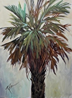 "Palmetto Winter Green by Karen Burnette Garner Acrylic ~ 16"" x 12"""