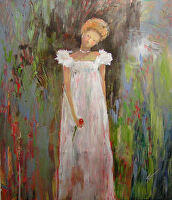 Contemplative Mood by Karen Burnette Garner Acrylic ~ 10 x 8
