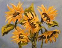 Sunflowers by Karen Burnette Garner Acrylic ~ 12 x 16