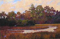 Evening Marsh by Karen Burnette Garner Acrylic ~ 8 x 10