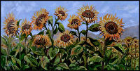 Kynna's Sunflowers by Karen Burnette Garner Acrylic ~ 24 x 48