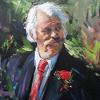 Man at a Wedding by James Buncak Oil ~ 20 x 16