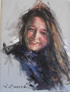 Smiling Girl by James Buncak Oil ~ 10 x 8