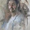 Self Portrait by James Buncak Oil ~ 30 x 24