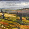 View from Diamond Ridge by James Buncak Oil ~ 7 x 11 3/4