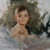 Portrait of a baby by James Buncak Oil ~ 16 x 20