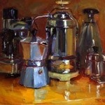 Pam Ingalls - Oil Painting at The Lodge at St. Edward