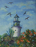 Key West Light by Lisa Manners Oil ~  x