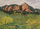Flatirons by Lisa Manners Oil ~ 12 x 16