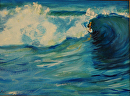 Surfs Up Maui by Lisa Manners Oil ~ 9 x 12