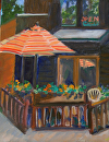 RiverWalk Cafe by Lisa Manners Oil ~ 12 x 9
