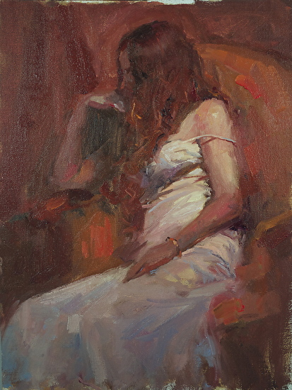 """Red Chair"" - Oil"