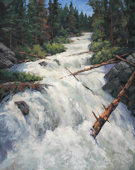 TheColorsOfWhitewater - Oil