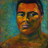 Muhammad Ali ~ The Greatest of All Time~ Large Giclee Framed Artists Proof by Constance Vlahoulis  ~ 36 inches x 36 inches