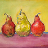 AW Pears-Original by Constance Vlahoulis Oil ~ 18 inches plus frame x 24 inches plus frame