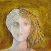 Come Alive with Greek Classical Art ~ Original by Constance Vlahoulis Oil over Acrylic ~ 20 inches plus frame x 20 inches plus frame