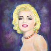 Marilyn Monroe ~ Sparkles Plenty by Constance Vlahoulis 80  Year Archival Ink ~ 12 inches x 12 inches