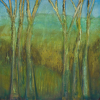 "Tree-o-logy~ Artist Enhanced Giclee in Majestic Frame by Constance Vlahoulis Mixed Media ~ 24 inches x 24 inches + 4"" frame"