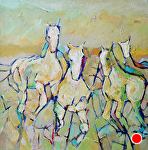 Round Up by Filomena Booth Acrylic ~ 24 x 24""