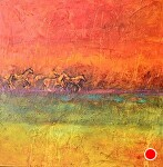 """Into the Sunset by Filomena Booth Acrylic ~ 40"""" x 40"""""""