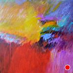 "It Rained Last Night by Filomena Booth Acrylic ~ 24"" x 24"""