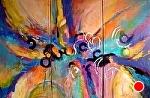 "Critical Mass by Filomena Booth Acrylic ~ 48"" x 72"""