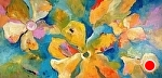 """Floral Fantasy by Filomena Booth Acrylic ~ 24"""" x 48"""""""