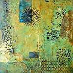 "Aztec Sun I by Filomena Booth Mixed ~ 12"" x 12"""