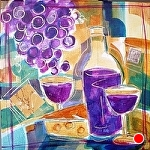"Rioja I by Filomena Booth Mixed ~ 12"" x 12"""
