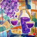 """Rioja I by Filomena Booth Mixed ~ 12"""" x 12"""""""