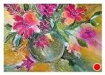 Flores no Vaso by Filomena Booth Watercolor ~ 16 x 20