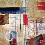 "Journey Back II by Filomena Booth Acrylic ~ 16"" x 16"""