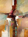 """Fragments of Thought by Filomena Booth Acrylic ~ 40"""" x 30"""""""