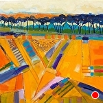 """Golden Pastures by Filomena Booth Acrylic ~ 24"""" x 24"""""""