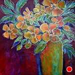 """Loves Me Loves Me Not by Filomena Booth Acrylic ~ 24"""" x 24"""""""