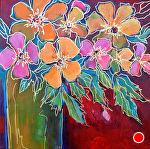 "Sunshine Bouquet by Filomena Booth Acrylic ~ 12"" x 12"""