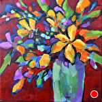 "Flores by Filomena Booth Acrylic ~ 12"" x 12"""