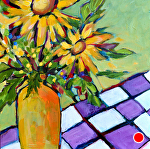 "Kitchen Sunflowers by Filomena Booth Acrylic ~ 12"" x 12"""