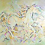 "Wild and Free by Filomena Booth Acrylic ~ 36"" x 36"""