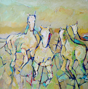 """Round Up by Filomena Booth Acrylic ~ 24 x 24"""""""
